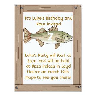 Fishing Birthday Party Boys Invitation