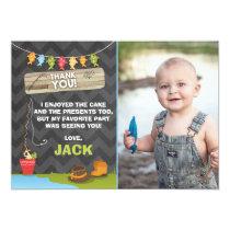 Fishing Birthday Thank You Card Fishing party