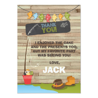 Fishing Birthday Thank You Card Fishing party