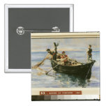 Fishing Boat, 1881 Pinback Button