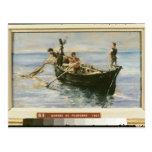 Fishing Boat, 1881 Postcard