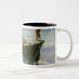 Fishing Boat, 1881 Two-Tone Coffee Mug