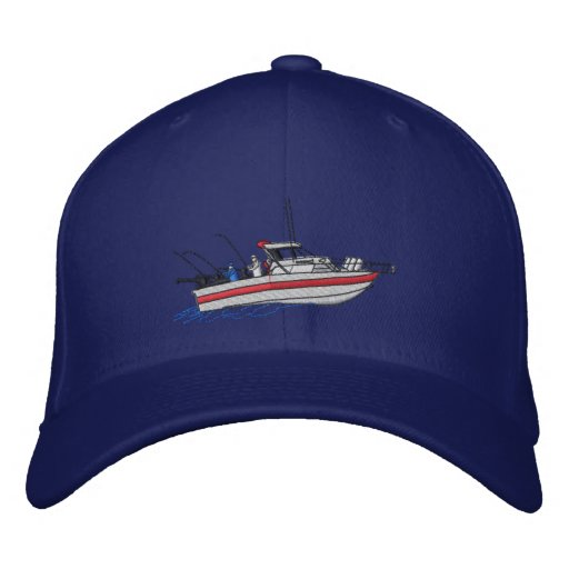 Fishing Boat #1 Embroidered Baseball Hat