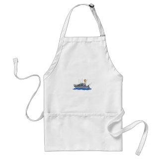 Fishing Boat Adult Apron