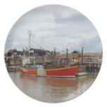 Fishing Boat Aquarius At Southwold Dinner Plate