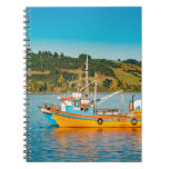 Fishing Boat at Lake, Chiloe, Chile Notebook