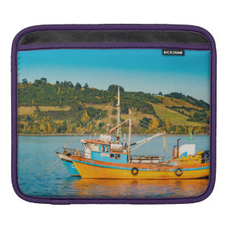 Fishing Boat at Lake, Chiloe, Chile Sleeve For iPads
