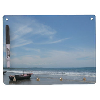 Fishing Boat at the Beach Dry Erase Boards