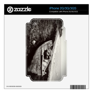 Fishing Boat black and white iPhone 3GS Skins