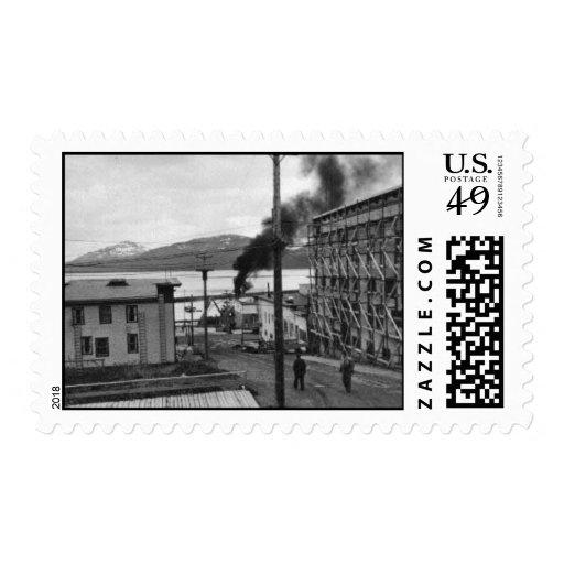 Fishing Boat Burns in Cordova Stamps