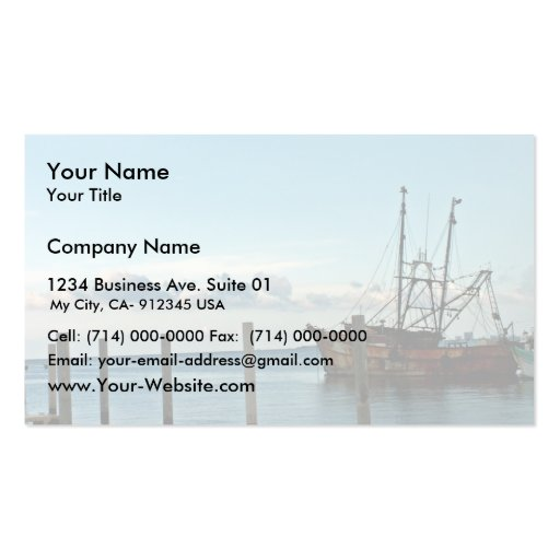 Fishing Boat Business Card Templates