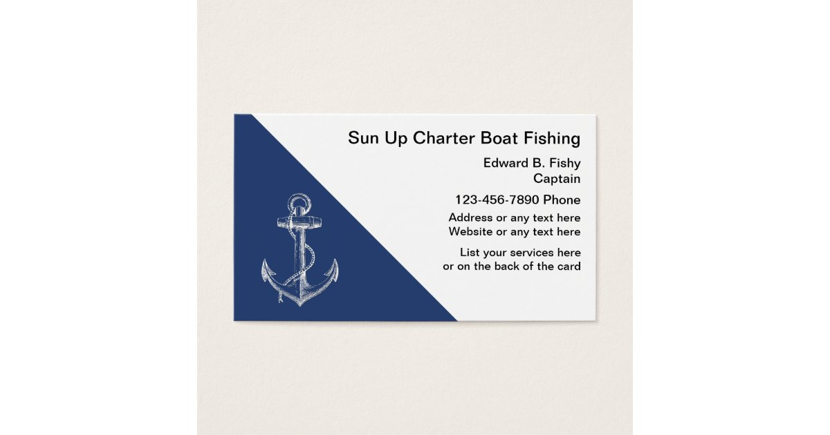Fishing Boat Business Cards | Zazzle.com