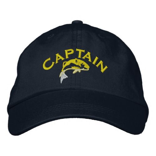 Fishing boat captain embroidered baseball cap