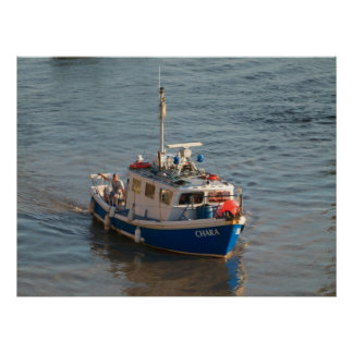Fishing Boat, Cardiff Bay, Poster