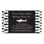 Fishing Boat Charter / Scuba Diver - Shark Pattern Business Card
