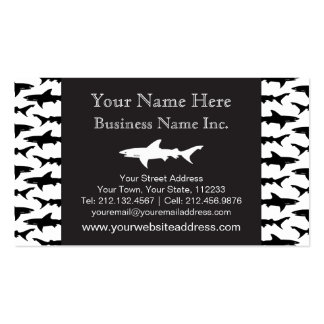 Fishing Boat Charter / Scuba Diver - Shark Pattern Double-Sided Standard Business Cards (Pack Of 100)