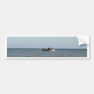 Fishing Boat Girl Kayla Bumper Stickers