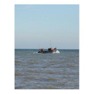 Fishing Boat Girl Kayla Postcard
