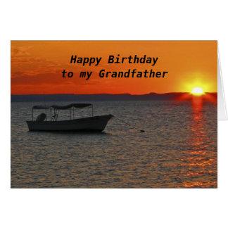Fishing Boat  Happy Birthday Grandfather Card