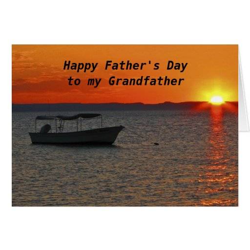 Fishing boat happy father 39 s day grandfather card zazzle for Father s day fishing card