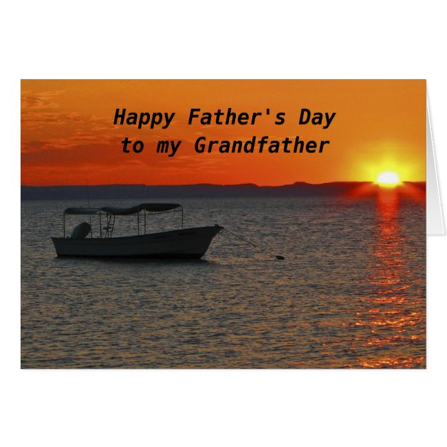 Fishing Boat Happy Father's Day Grandfather
