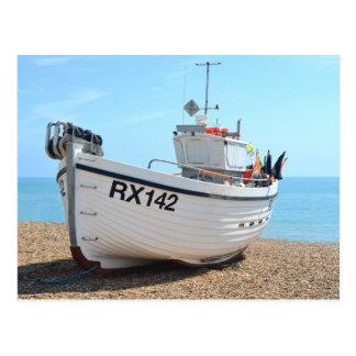 Fishing Boat Hastings Postcard