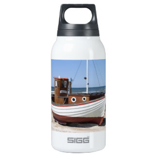 Fishing Boat Image Insulated Water Bottle