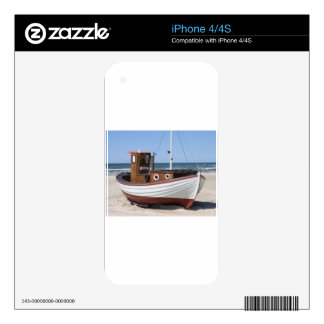 Fishing Boat Image Skin For The iPhone 4
