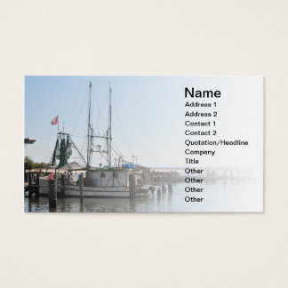 fishing boat in Biloxi Mississipppi Business Card