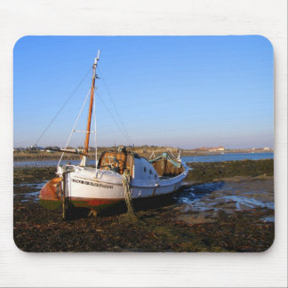 Fishing boat in Guernsey Mouse Pad