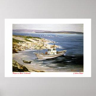 Fishing boat in Muxia (To Corunna) Poster