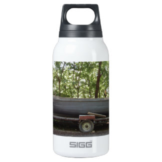 Fishing Boat In The Woods Insulated Water Bottle