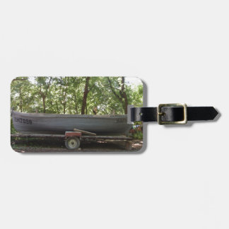 Fishing Boat In The Woods Luggage Tags