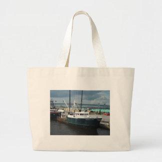 Fishing Boat Jumbo Tote Bag