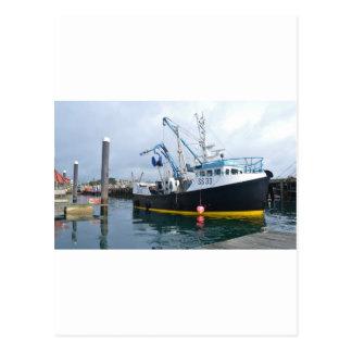 Fishing Boat Leaving Harbor Postcard