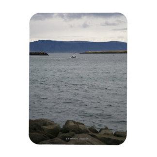 Fishing boat leaving harbour, Reykjavik, Iceland Magnet