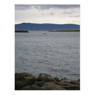 Fishing boat leaving harbour, Reykjavik, Iceland Postcard