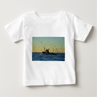 Fishing Boat Mobbed By Gulls Infant T-shirt