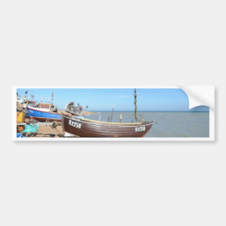Fishing Boat Mona Lisa Bumper Sticker
