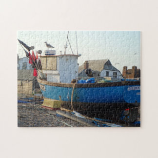 fishing boat moored by the sea coastal photo puzzle