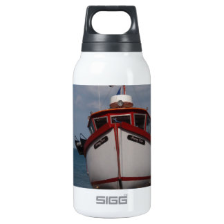 Fishing Boat Morning Haze Insulated Water Bottle