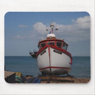 Fishing Boat Morning Haze Mouse Pad