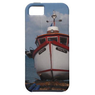 Fishing Boat Morning Haze On Beach iPhone 5 Covers