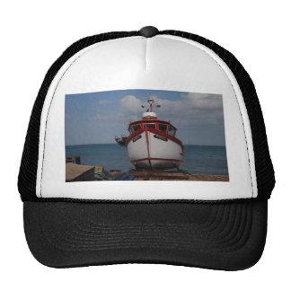 Fishing Boat Morning Haze On Beach Trucker Hats