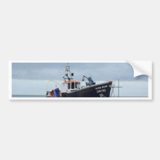 Fishing Boat Moss Rose Car Bumper Sticker