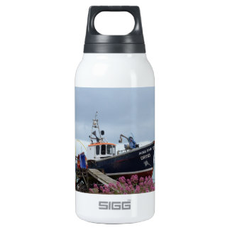 Fishing Boat Moss Rose Insulated Water Bottle