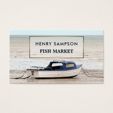 Professional Business Fishing Boat, Nautical Business Card