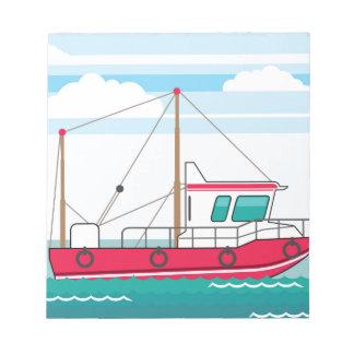 Fishing Boat Notepad