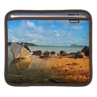Fishing Boat On Mauritian Beach With Islet iPad Sleeve