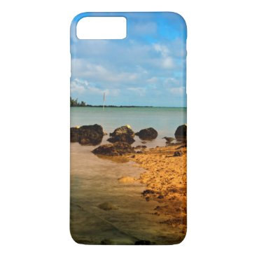 Beach Themed Fishing Boat On Mauritian Beach With Islet iPhone 7 Plus Case